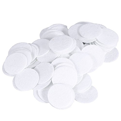 Microdermabrasion Filters, 100pcs New Cotton Filter Round Filtering Pads For Blackhead Removal Beauty Machine (15mm)