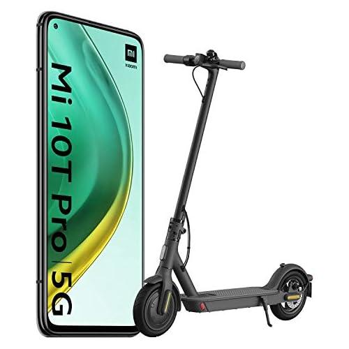 chollos oferta descuentos barato Xiaomi Mi 10T Pro Pack de Lanzamiento Pantalla 6 67 FHD DotDisplay 8GB 256GB Cámara de 108MP Snapdragon 865 5G 5 000mAh con carga 33W Negro Cósmico versión española Scooter Essential
