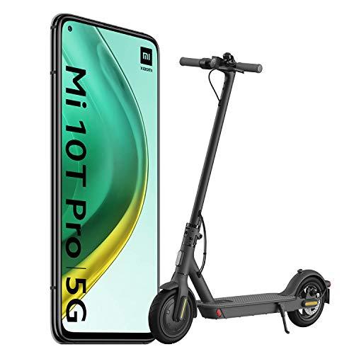 Xiaomi Mi 10T Pro Pack de Lanzamiento (Pantalla 6.67″ FHD+ DotDisplay, 8GB+256GB, Cámara de 108MP, Snapdragon 865 5G, 5.000mAh con carga 33W) Negro Cósmico [versión española] + Scooter Essential