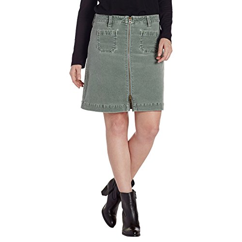 Jag Jeans Women's Mccamey Zip Front Skirt, Light Willow Corduroy, 6 (Six Curves Willow)