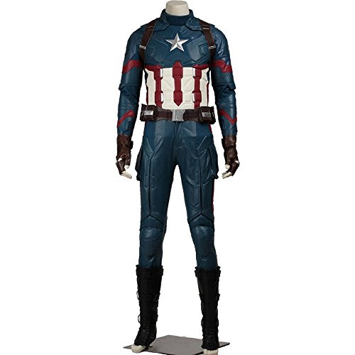 Captain Steve Rogers Costume (Avengers Age of Ultron Captain America Steve Rogers Cosplay & Shield)