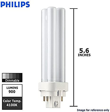 G24q-1 2700k Compact Fluorescent Lamp Philips Master PL-C 13w 4 Pin 827 Very Warm White Glass 13 W