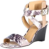 Nine West Women's Nofrills Wedge Sandal-Natural Multi/Black