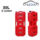 SXMA Fuel Tank Cans Spare 8 Gallon Portable Fuel Oil Petrol Diesel Storage Gas Tank Emergency Backup for Jeep JK Wrangler SUV ATV Car Motorcyc Toyota ect Most Cars(J171) (8 Gallon, Red)