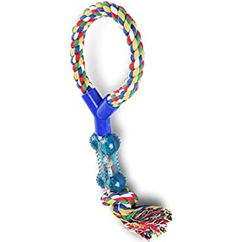CarePedia-Durable Pets Puppy Dog Chew Rope Toys with Bones for Small-medium dogs