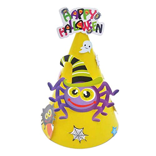 Deluxe Sequin Witch Costumes (DRACLE Children Halloween Hat, Multicolor Witch Hat Halloween Hat Theme Parties Decorative (Yellow))