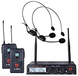 Nady U-2100 Dual HM 200-Channel UHF Wireless Headset Microphone System (with newly upgraded deluxe headmic)