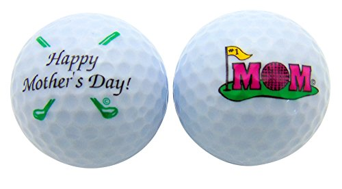 Mom Golf - Mothers Day Golf Ball Gift Pack Set of 2 Different Balls for #1 Mom