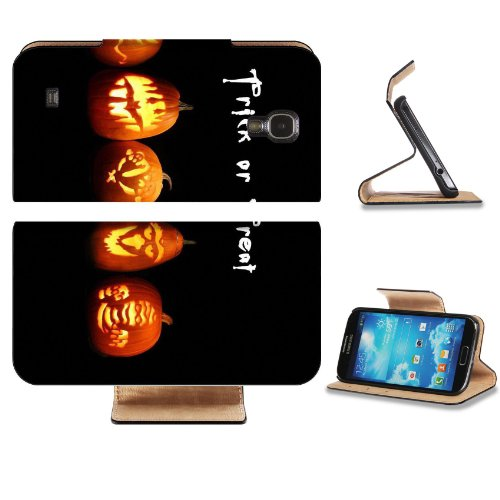 Halloween Variety Pumpkin Carving Decorations Samsung Galaxy S4 Flip Cover Case with Card Holder Customized Made to Order Support Ready Premium Deluxe Pu Leather 5 inch (140mm) x 3 1/4 inch (80mm) x 9/16 inch (14mm) Luxlady S IV S 4 Professional Cases Accessories Open Camera Headphone Port I9500 LCD Graphic Background Covers Designed Model Folio Sleeve HD Template Designed Wallpaper Photo Jacket Wifi 16gb 32gb 64gb Luxury Protector Micro SD Wireless Cellphone Cell Phone