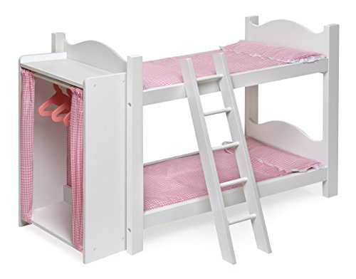 Badger Basket Doll Bunk Beds with Ladder and Storage Armoire (fits American Girl ()