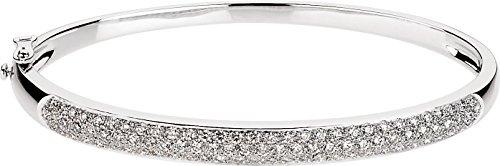 Or blanc 14 carats serti de diamants bruts 1 Bracelet-JewelryWeb 1/2 carat