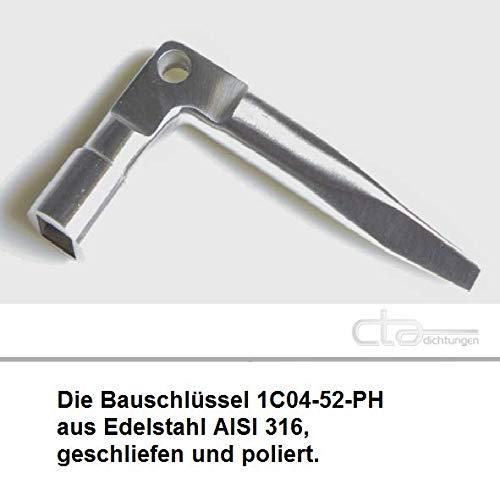 CTA Dichtungen Vierkant 8-9mm Au/ßenvierkant 6-9,5 mm Schl/üssel Dornschl/üssel aus Edelstahl 1C04-52-PH