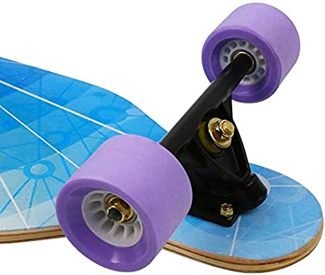 41 Inch Longboard Skateboard Complete Skateboard Cruiser for Cruising Free-Style and Downhill with T-Tool Carving