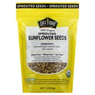 Go Raw, Sunflower Seeds Sprouted Raw Organic, 16 Ounce
