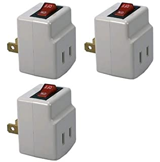 WalterDrake 3 Plug Outlet Switch - - Amazon.com on plug in outlet adapter, electrical outlet switch, power outlet switch, electric outlet switch, 220 outlet switch, outlet with switch, plug into outlet, plug in electrical outlet, add on outlet switch, plug in wall outlet, wireless outlet switch, 3 prong outlet switch, 110v outlet switch, plug wiring diagram, plug socket, plug with remote, triple outlet switch,