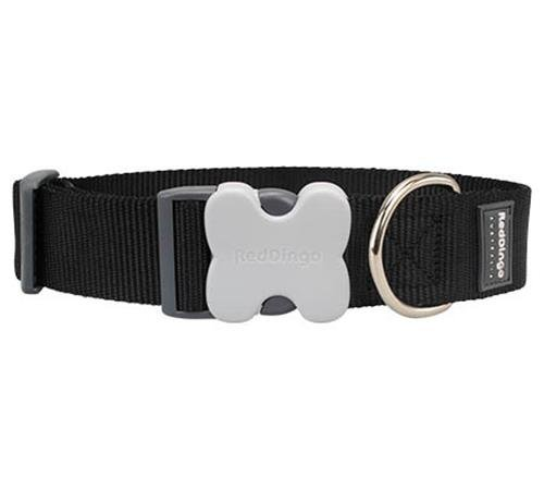 Red Dingo Classic Dog Collar, Giant Short, Black