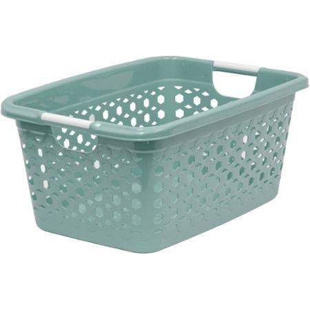 Home Logic 1.5-Bu Linked Impressions 3D Textured Laundry Basket, Porcelain Lavender