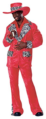 Rubies Red Hot Playa Adult Pimp Costume - Medium (Hot Costumes For Couples)