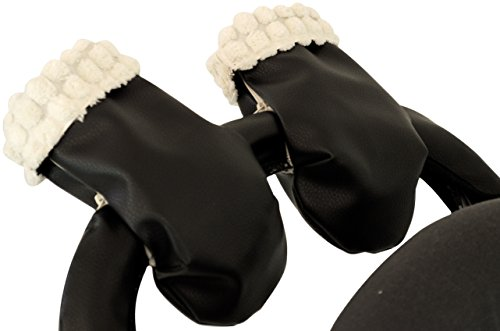 Manoplas guantes para carrito silla de bebé pelo extra-suave y ecopiel. Camel: Amazon.es: Bebé