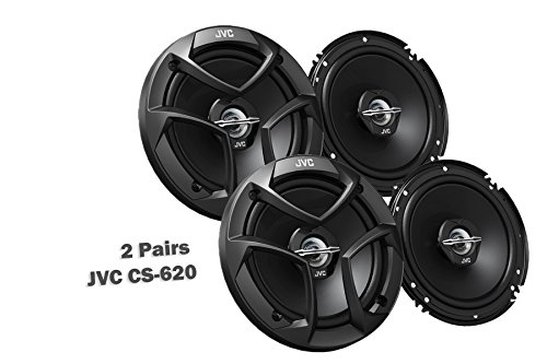 "Package In Bulk Box - Two (2) Pairs Of CS-J620 6.5"" 300W Car Audio 2-WAY Coaxial Car Speakers System / 4 Speakers"