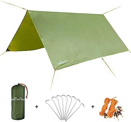 amazon com thebluestone rain tarp shelter in 10 x 10 ft for canopy rh amazon com