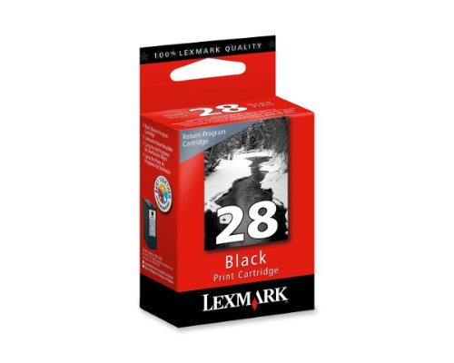 5 X 1 X OEM Lexmark 18C1428 (#28) Black ink Cartridge for X2500 X2530 X5070 Z5320 X5410 X5495 Z845 Z1300