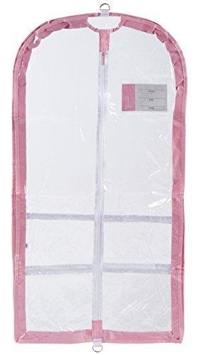 Danshuz Clear Garment Bag with ID Pocket (Pink)