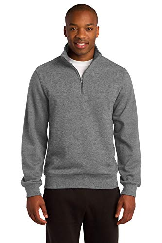 Sport-Tek Men's 1/4 Zip Sweatshirt XL Vintage Heather