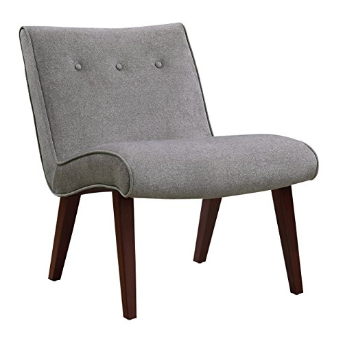 Pulaski 156-DSA465-093-554 Warner Button Back Armless Mid-Century Accent Chair, 24.8