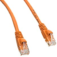 "eDragon 6"" Cat5e Orange Ethernet Patch Cable, Snagless/Molded Boot, Pack of 3 (ED895633)"