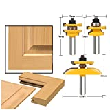 HOEN 1/2'' Shank Rail & Stile Ogee Blade Cutter Panel Cabinet Router Bits Set Milling cutter Power Tools Door knife Wood Cutter