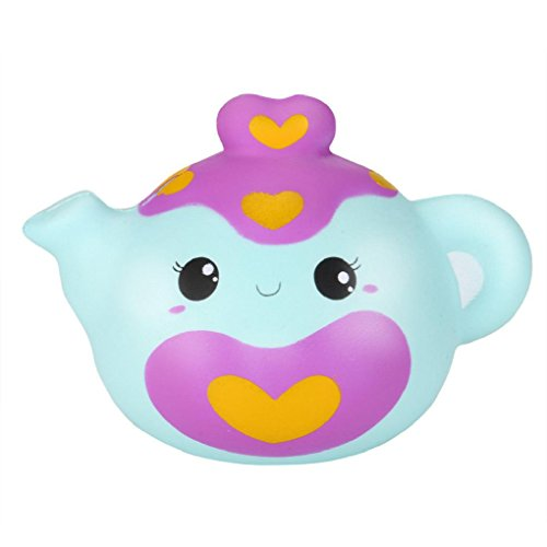 Stress Reliever Toys,Ulanda Smiley Teapot Slow Rising Squishy Cream Scented Squeeze Charm Toys