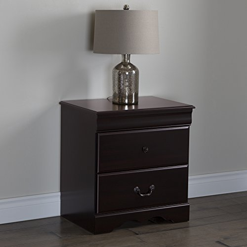 - South Shore Vintage 2-Drawer Night Stand, Dark Mahogany