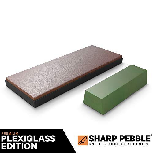 - Sharp Pebble Premium Leather Strop with Polishing Compound-Knife Stropping Block Kit for Sharpening & Honing- Knives, Straight Razor, Woodcarving Chisels - with eBook