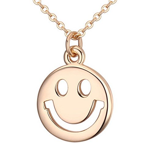 Lovely Land Emoji Pasta Lovely Face Pendant Necklace (Smile(yellow))
