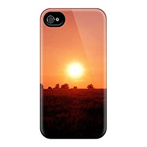 Cute Tpu MeSusges Warm Sunset Case Cover For Iphone 4/4s