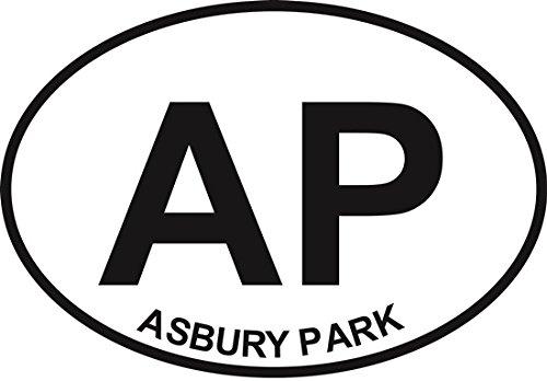 Asbury Park Euro Oval Bumper Sticker