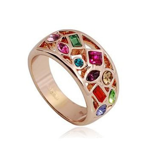Fashion Plaza Colourful Crystals Multi-stone Ring R418 (6)