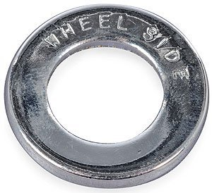 Cragar 27224-4: Lug Nut Washers, Steel, Chrome, Centered Round, 1.250 in. O.D., Set of 4