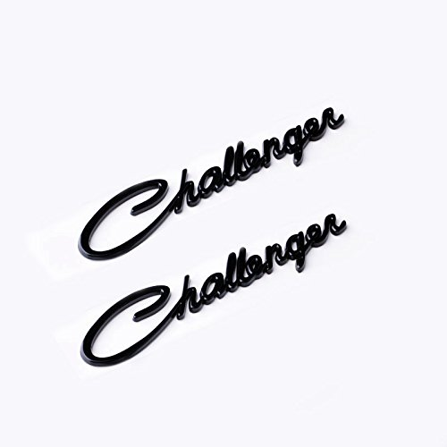 Yoaoo-oem® 2pcs(1pair) OEM Original Chrome Challenger Emblem Decal Nameplate for Dodge Chrysler Mopar (Black) (Dodge Chrome Emblem compare prices)