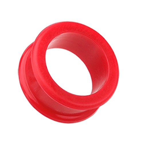 Freedom Fashion Flexible Silicone Double Flared Ear Gauge Tunnel Plug (Sold by Pair) (3/4