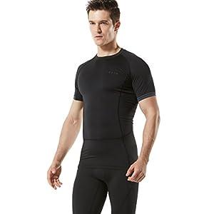 TM-MUB13-KLB_Large Tesla Men's Short Sleeve T-Shirt Cool Dry Compression Baselayer MUB13