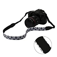 RoryTory 3pc Various Design Thin DSLR Camera Shoulder & Neck Strap Bundle
