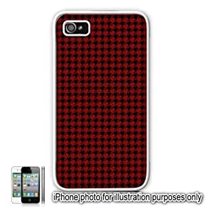 Red Houndstooth Check Pattern For Samsung Galaxy S3 I9300 Case Cover Skin White