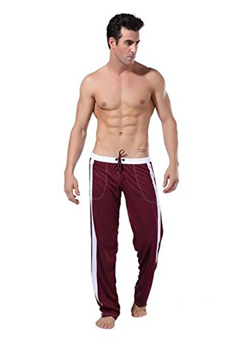Benibos Men's Long Low Rise Mesh Sports Sweatpants Front Tie Rope (US:M/Tag L, - Low Sweatpants Rise