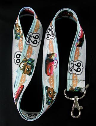 Cars Route 66 Lanyard Keychain -