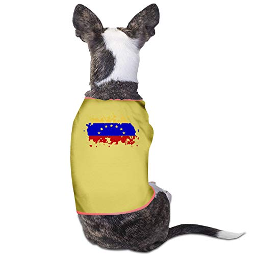 LNUO-2 Pet T-Shirts, National Flag of Venezuela Dog Cat Shirts Costume Clothes Apparel