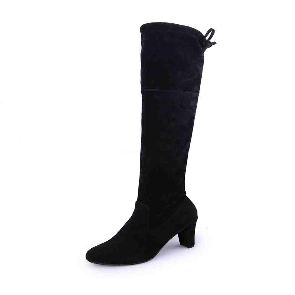 HCBYJ High Heels Frauen Stiefel Herbst Winter dünne Oberschenkel Hohe Hohe Hohe Stiefel Elastische Mädchen über Das Knie Stiefel High Heels e5e695
