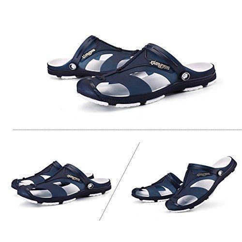 Color sport 42 Sandali Size esterno unisex di sandalo Pantofole donna esterno pelle da scarpe sandali Qingqing da EU in adatto Gray sudore assorbenti per da da per uomo chiusi Blue e da CqFwU7xc