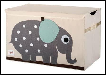 3 Sprouts - Baúl para juguetes para niños, 100% poliéster, caja de ...